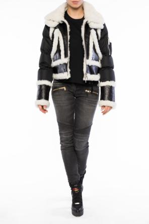 Fur-trim down jacket od Dsquared2